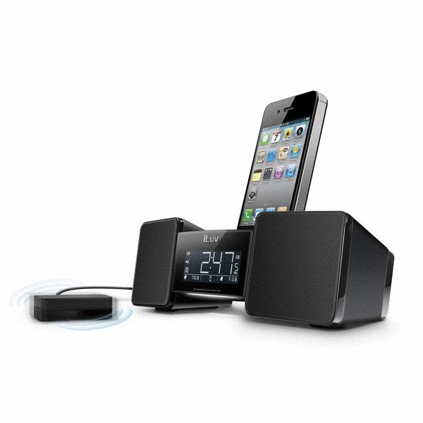 Image of Radio sveglia con vibra cuscino per iPod e iPhone nera - iLuv