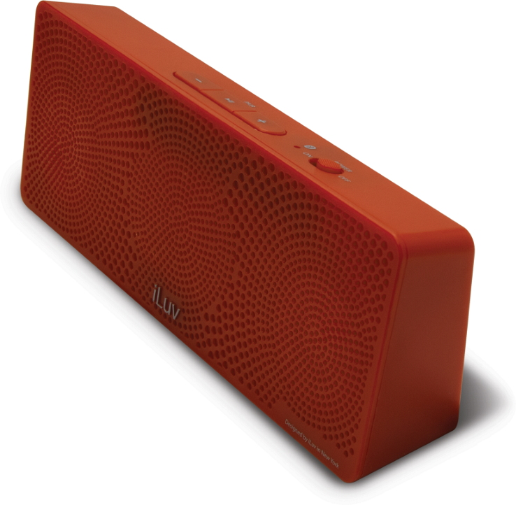 Offerta: iLuv MobiTour-Stereo Speaker Bluetooth portatile Rosso