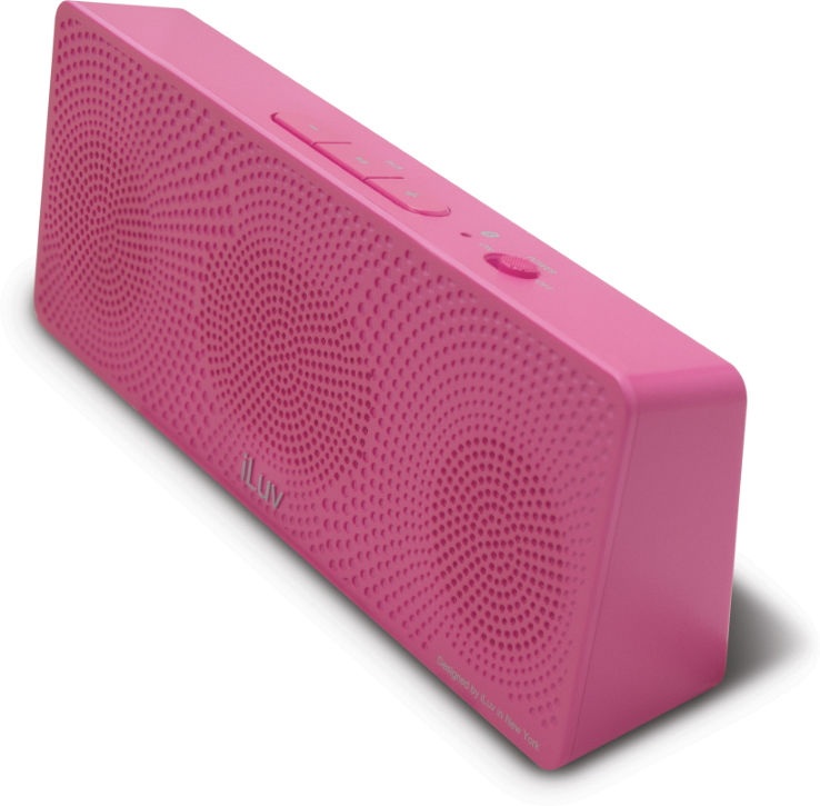 Offerta: iLuv MobiTour-Stereo Speaker Bluetooth portatile Rosa