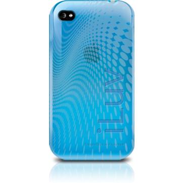 prezzo WAVE Custodia in plastica morbida per iPhone 4 blu iLuv in offerta